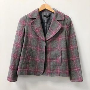 Talbots Plaid Blazer Jacket